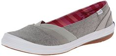 Keds Womens Whimsy SlipOn Flat Grey 6 M US -- Click affiliate link Amazon.com on image for more details.