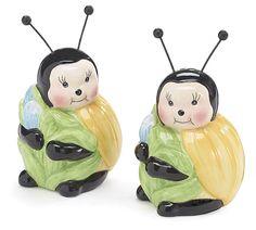 Ceramic Honey Bee Salt & Pepper Shakers burton & BURTON New