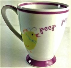 STARBUCKS coffee mug cup Spring 2007 Easter Peep birds
