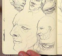 Sketchbook Secrets: 50 Beautiful Sketchbook Scans (the link has even better sketches)