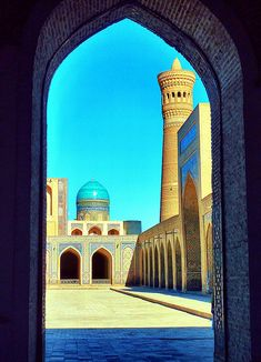 Bukhara | Iris@photos | Flickr Religious Architecture, Historical Architecture, Art And Architecture, Mosque Architecture, Beautiful Mosques, Beautiful Places, Silk Road, Central Asia, Islamic Art