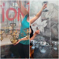 Lampadario prima e dopo con Fusion Mineral Paint