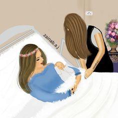 Mother Daughter Art, Mother Art, Tomboy Art, Sarra Art, Mom Dad Baby, Girly M, Lovely Girl Image, Cute Couple Art, Cute Girl Drawing