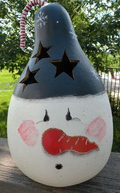 Snowman Gourd Light. $32.00, via Etsy.