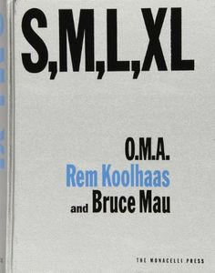 'S,M,L,XL' presents a selection of the design work produced by the Dutch firm Office for Metropolitan Architecture (O.M.A.) and its founder, Rem Koolhaas. The collaboration between Koolhaas and designer Bruce Mau weaves together architectural projects, photos and sketches, diary excerpts, personal travelogues, fairy tales, and fables, as well as critical essays on contemporary architecture and society.