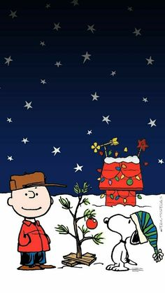 #snoopy #charliebrown #acharliebrownchristmas #christmastree #phone #wallpaper #peanutsspecials