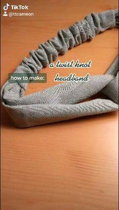 Sewing Headbands, Diy Baby Headbands, Knot Headband, Headband Tutorial, Fabric Headbands, Headband Pattern, Sewing Basics, Sewing Hacks, Sewing Tutorials