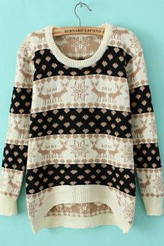 sweater wear with black leggings Олень Полиграфия, Модели, Рождественские  Свитера, Модные Наряды, a7a4f461a8d