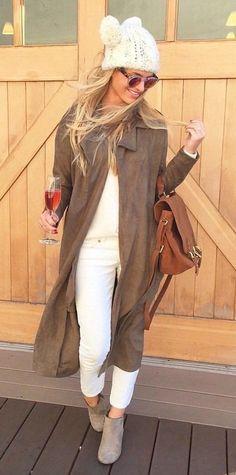 #fall #outfits women's black long cardigan