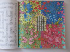 Secret Garden Johanna Basford adult coloring book finished pages pictures DIY