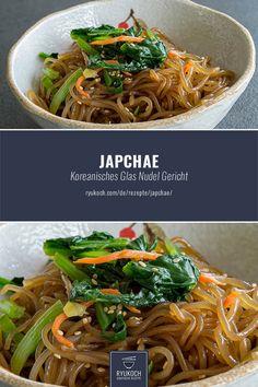 Japchae stir-fried glass noodles- Japchae angebratene Glasnudeln Korean recipes – Japchae – The well-known vegetarian dish from Korean glass noodles :] The recipe I have here for you :] - Stir Fry Glass Noodles, Korean Glass Noodles, Japanese Noodles, Korean Food, Chinese Food, Vegetarian Recipes, Healthy Recipes, Vegetarian Dish, Healthy Food