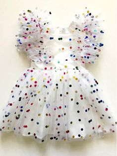 baby girl party dresses Image of the tiffany rainbow confetti tulle party dress Girls Frock Design, Kids Frocks Design, Baby Frocks Designs, Baby Dress Design, Baby Girl Party Dresses, Toddler Girl Dresses, Little Girl Dresses, Little Girl Fashion, Kids Fashion