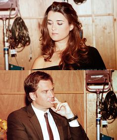 Cote de Pablo & Michael Weatherly.  Her hair is perfect!  Plus, who could resist MW thrown in the pic for good measure. :)
