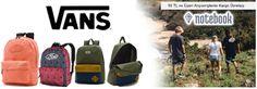 Ünlü tasarımcıların şık dokunuşları ile tasarlanan Vans sırt çantalarını klasik kıyafetlerinizde de rahatlıkla kombinleyebilirsiniz. Kaliteyi ve konforu bir arada bulundurmak isteyen ve klasik iş kıyafetlerine renk katmak isteyen beyler ve bayanlar için Vans sırt çantası modelleri doğru tercih olacaktır.  http://www.notebookkirtasiye.com/sirt-cantalari?brnd=Vans