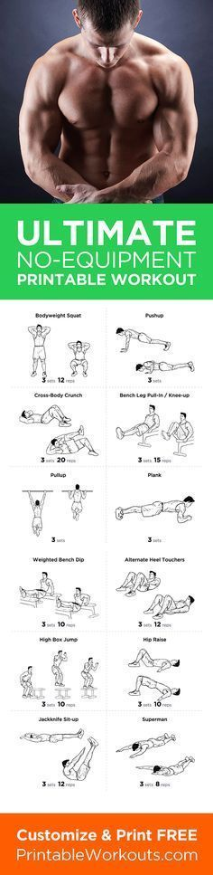 Try this full body no equipment at-home printable workout routine! Customize & print it at http://printableworkouts.com/ultimate-at-home-full-body-no-equipment-printable-workout-routine/?utm_content=bufferfdcaa&utm_medium=social&utm_source=pinterest.com&utm_campaign=buffer