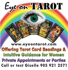 Eye on Tarot: Offering Confidential Tarot Card Readings and Intuitive Guidance for Women. Private Appointments or Parties in Hamilton Ontario www.eyeontarot.com