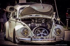 VW bug with 356 headlight grilles