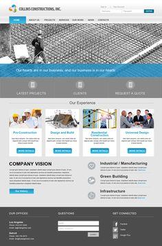 Construction Website Inspiration Construction Website, Brand Building, Website  Layout, Website Designs, Ui