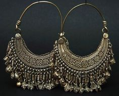 Middle East Jewellery Earrings Ulviyya Hazara People Oxidised