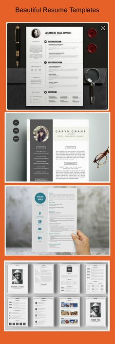 Unique and modern resume template collection  #career #resume #cv