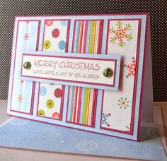 Awesome pictures - Pinterest is Cool: Handmade Christmas Card by SewColorfulDesigns