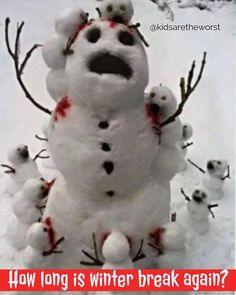 snowman attacked