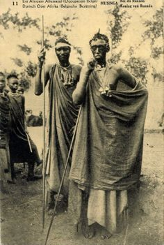 Musinga King of Ruanda in East Africa 1920
