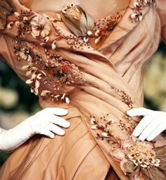 Christian Dior Couture ~ lovely embellished peach!