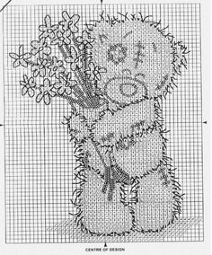grille broderie gratuite me to you Cross Stitch Animals, Cross Stitch Kits, Cross Stitch Charts, Cross Stitch Patterns, Blackwork Cross Stitch, Cross Stitching, Pixel Art, C2c Crochet, Charts And Graphs