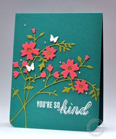 The Frugal Crafter Cleans Up The Frugal Crafter, Memory Box Dies, Thing 1, Die Cut Cards, Quick Cards, Small Cards, Creative Cards, Flower Cards, Stampin Up Cards