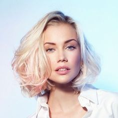 Best hair color blonde with pink faces 33 Ideas Bob Haircuts For Women, Short Hairstyles For Women, Bob Hairstyles, Straight Hairstyles, Trending Hairstyles, Latest Hairstyles, Medium Hair Styles, Curly Hair Styles, Blonde Haircuts