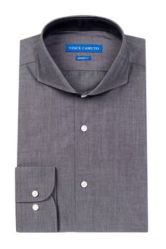 Modern Fit Chambray Dress Shirt