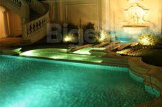 #Outside flooring in Verde Guatemala and various type of Travertini sandblasted. #outdoor #marble #pool #bigellimarmi #marble #green #verde #luxurydesign