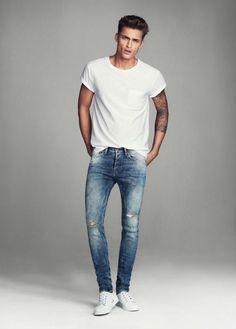 look camiseta basica branca masculina - Pesquisa Google