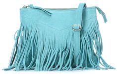 wardow.com - #Cowboysbag, Bag Helsby Schultertasche Leder türkis 25 cm, #blue