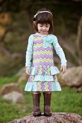 Trish Scully Child Missoni Inspiration Sequin T-Shirt Dress-Designer Girl Clothes only $50.00 - New Items