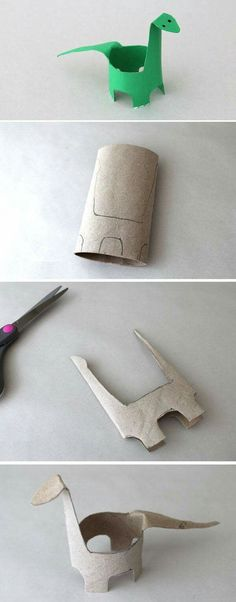 Toilet Paper Roll Crafts - Get creative! These toilet paper roll crafts are a great way to reuse these often forgotten paper products. You can use toilet paper rolls for anything! creative DIY toilet paper roll crafts are fun and easy to make. Kids Crafts, Toddler Crafts, Preschool Crafts, Projects For Kids, Diy For Kids, Arts And Crafts, Dinosaur Crafts Kids, Summer Crafts, Crafts For Camp