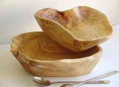 Love wooden bowls