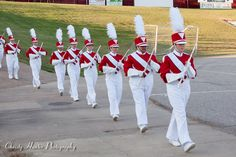 Munford High School Marching Band flutes entering the stadium at Homecoming Game Sept 2013.
