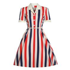 Get the latest styles in our women's clothing and accessories sale. From dresses to tops, shoes and much more, shop online now for cheap vintage clothing at Lindy Bop. Vintage Inspired Dresses, Vintage Style Dresses, Unique Dresses, Vintage Outfits, Vintage Fashion, Dress Vintage, Pink Skater Skirt, Stripe Skirt, Striped Dress