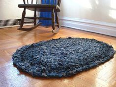 DIY Denim Rag Rug, 10 Amazing Upcycled Projects from Old Jeans - Diy Inspiry