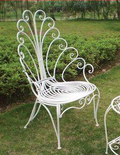 peacock scrolls garden chair