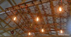 Antique bed spring hanging chandelier