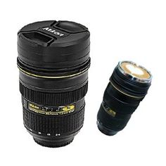 New camera lens cup tea cup coffee mug travel cup for Nikon camera lens coffee mug