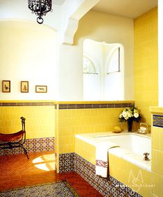 """Her"" bath by Madeline Stuart & Associates with original architecture by Syvanus Marston, circa 1923."