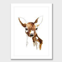 Geometric Deer Art Print by Makus Art - Art Prints NZ Art Prints, Design Prints, Posters & NZ Design Gifts | endemicworld