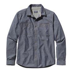 Patagonia Men\'s Long-Sleeved Chambray Workwear Shirt - Chambray: Classic Navy CYN