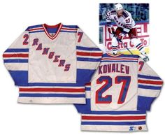 af5b70c41 Alex Kovalev 1997-98 New York Rangers Game Worn Jersey Rangers Game