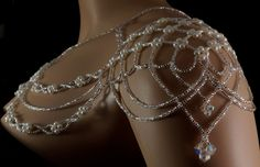 Pearl Czech crystal beaded bridal shoulder by originalbeading