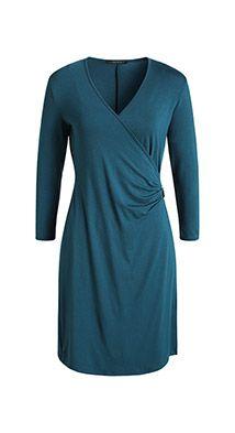 Esprit / Slå-om-kjole i stretchjersey med spænde